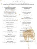 Champagne Wedding Catering Menu