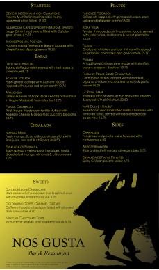 tapas menu template - spanish fusion menu long tapas menus