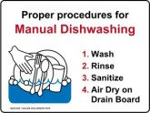 Manual Dishwashing Kitchen Safety Signs