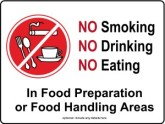 Food Preparation Kitchen Sign
