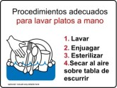 Manual Dishwashing Kitchen Safety Signs in Spanish