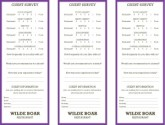 Purple Comment Cards
