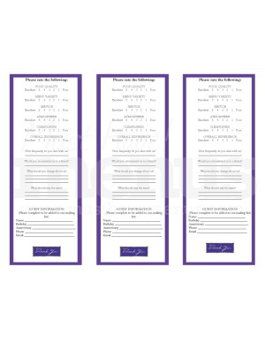 Purple comment cards template marketing archive for Comments html template