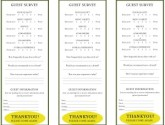 Yellow Oval Comment Cards