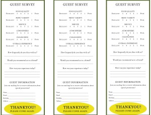 Yellow Oval Comment Cards Marketing Archive