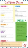 Latin Fusion Menu Long