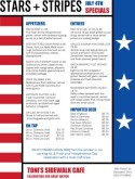 Stars and Stripes 4th of July Menu