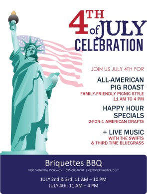 Bbq 4th of july flyer 4th of july flyers for 4th of july menu template