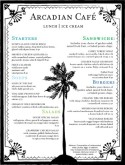 Beach Cafe Menu