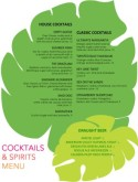 Summer Cocktail Menu