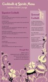 Tropical Cocktail Menu