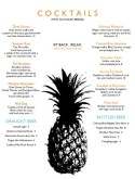 Fruit Cocktail Menu