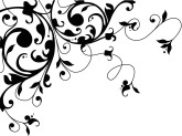 Black Flourish Accent
