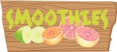 Citrus Smoothies on Wood