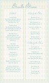 Elegant Bar Menu Long
