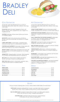 Customize Sandwich Deli Menu