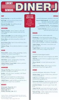 Customize Roadside Diner Menu Long