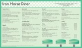 Diner Breakfast Menu Long