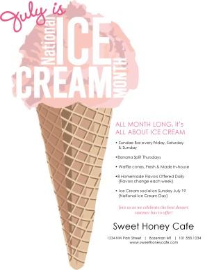 Ice Cream Month Flyer   Summer Flyers