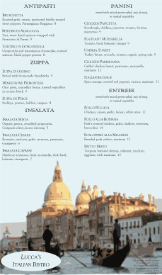 Customize Venetian Italian Menu Long