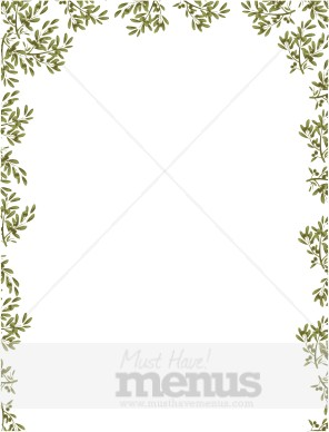 Olive Branch Border on Simple Pine Tree Clip Art