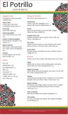 Mexican Food Menu Long