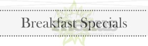 Menu Header Breakfast Specials