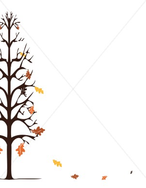 Falling Oak Leaves Background