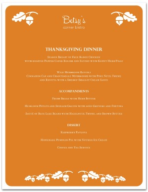 thanksgiving menu template thanksgiving menus