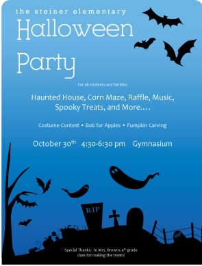 Customize Halloween Party Menu