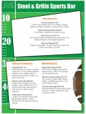 Bar Football Menu