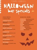 Halloween Bar Menu