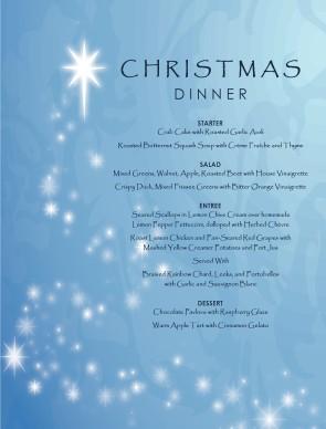Hotel Christmas Menu Christmas Menus