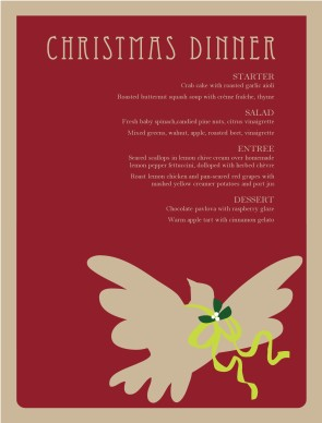 Customize Christmas Restaurant Menu