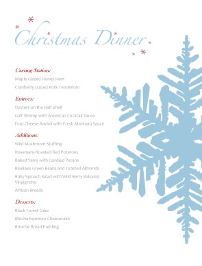 Holiday Menu | Christmas Menus