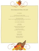 Cater Thanksgiving Menu