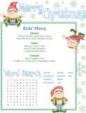 Christmas Kids Menu