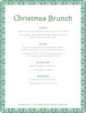 Christmas Party Buffet Menu
