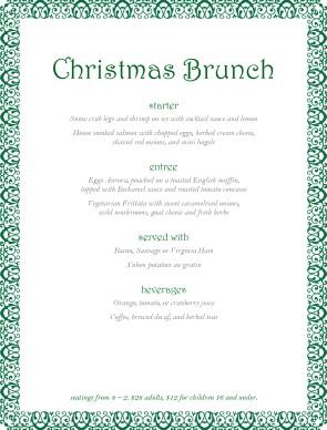 Christmas Party Buffet Menu | Christmas Menus