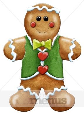 Gingerbread man clipart christmas menu images gingerbread man clipart voltagebd Image collections