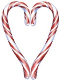 Candy Cane Heart Image