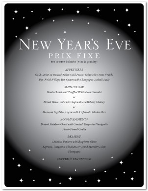 New Years Eve Party Menu Template | New Year's Eve Menus