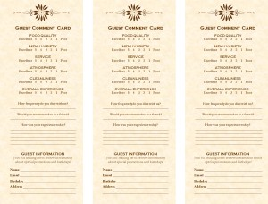 Customize Comment Card