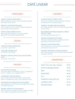 Customize Cafe Restaurant Menu
