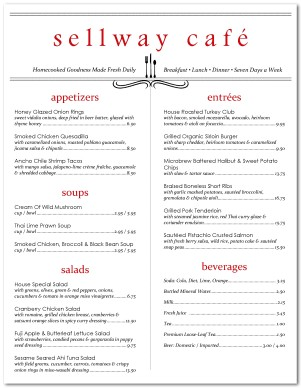 Fieldstation.co  Cafe Menu Template Word