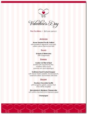 special valentines day menu template valentines day menus
