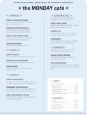 Cafe Food Menu