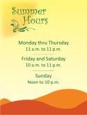 Open Hours Flyer