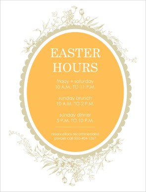 Customize Easter Hours Flyer