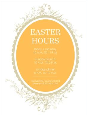 Easter Hours Flyer Easter Flyer